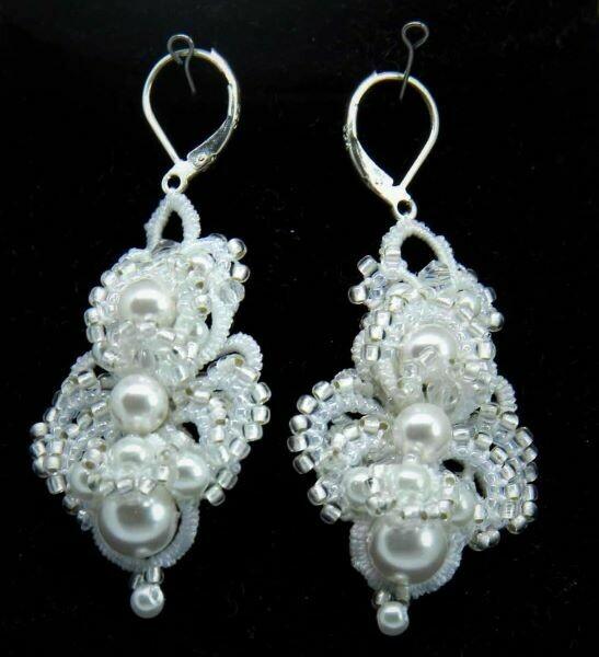 """Lace earrings """"Wedding"""""""