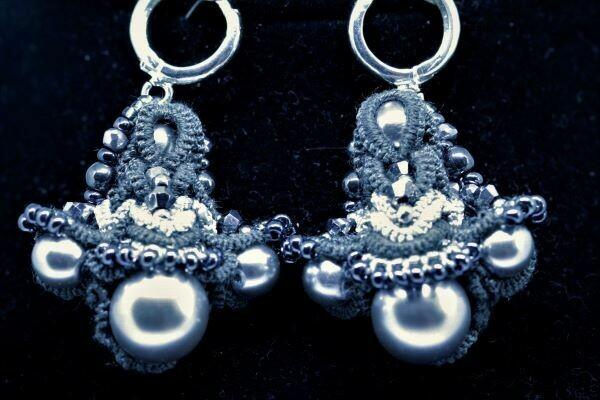Multilace earrings
