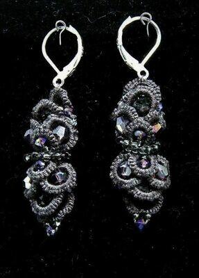 Multifrivolite earrings