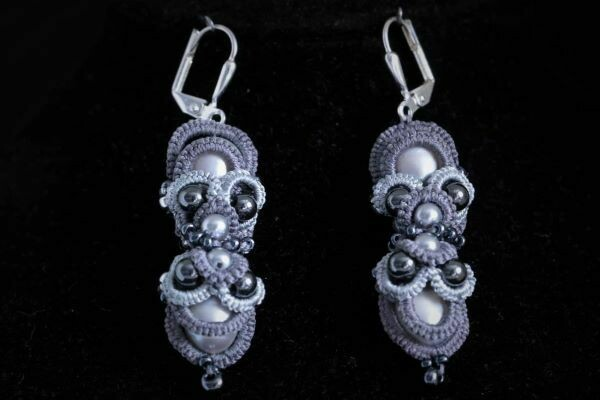 "​Earrings with pearls ""Pearl scattering"""