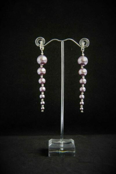 """Earrings with pearls """"Marmalade"""""""