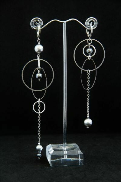 """Earrings with pearls """"Variation"""""""