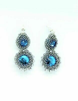 ​Earrings with crystals