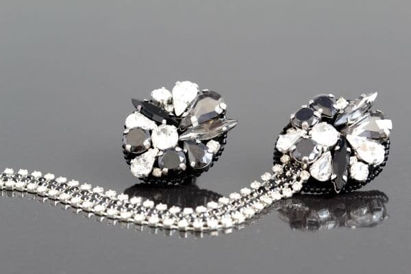 """Earrings with crystals """"Burlesque"""""""