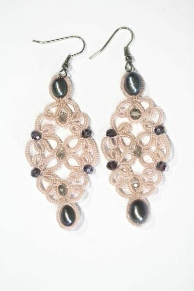 """Earrings with natural pearls """"Romance"""""""