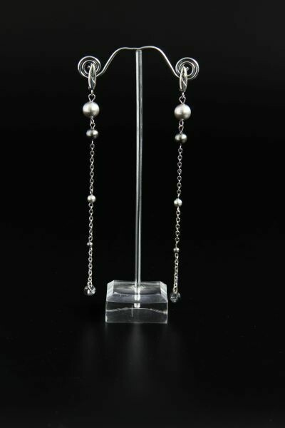 """Long earrings with pearls """"Emilia"""""""
