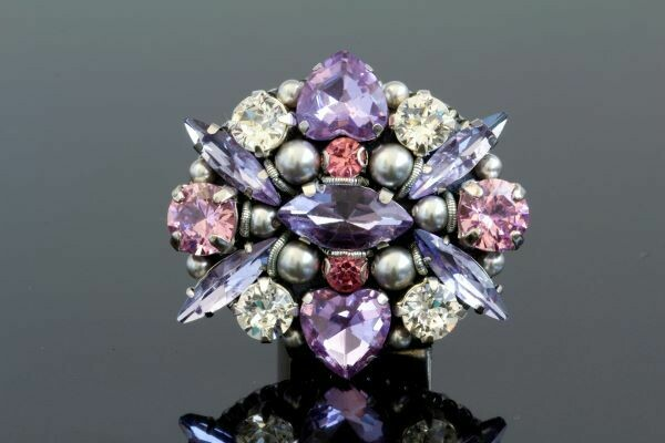 """Brooch with crystals """"Lorraine"""""""
