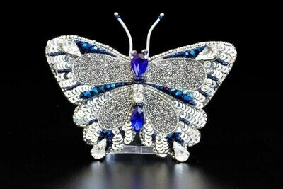"""Вrooch with crystals """"Butterfly Menelaus"""""""