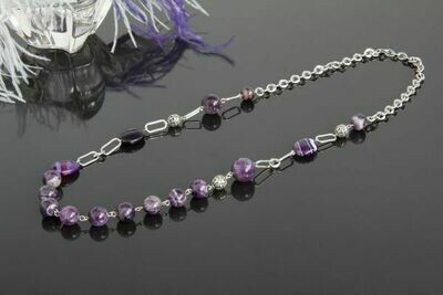 """Necklace with amethyst """"Agata"""""""