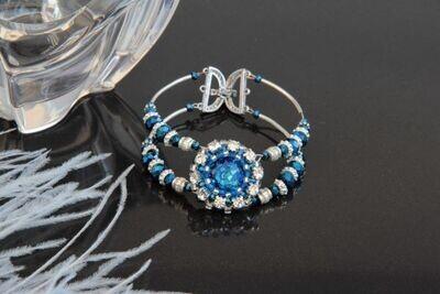 "Bracelet with crystals ""Aquamarine Blue"""