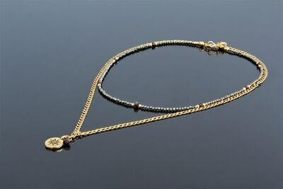 """""""Princess"""" necklace with natural stones """"Isabelle"""""""