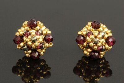 "Earrings with natural garnet ""Amaret"""