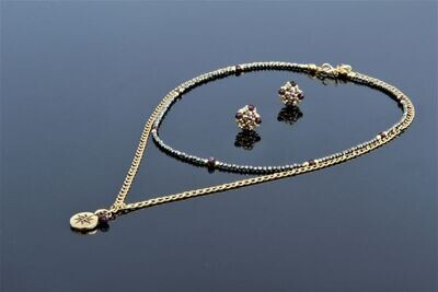 """Set of jewelry with natural stones """"Amaret"""""""