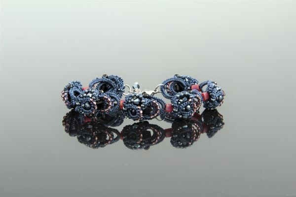 "Braided lace bracelet ""Ksenia"""