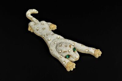 """Brooch with crystals """"Leopard"""""""