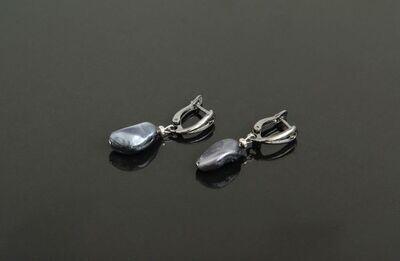 "Earrings with pearls Majorica ""Ekaterina"""