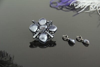 """Set of jewelry made of natural stones """"Ekaterina"""""""