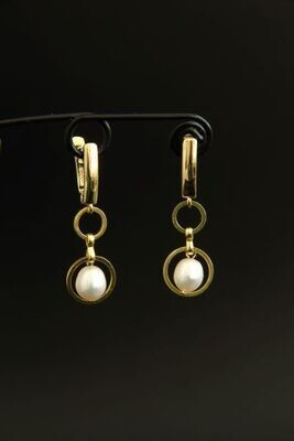 """Earrings with natural baroque pearls """"Jacqueline"""""""