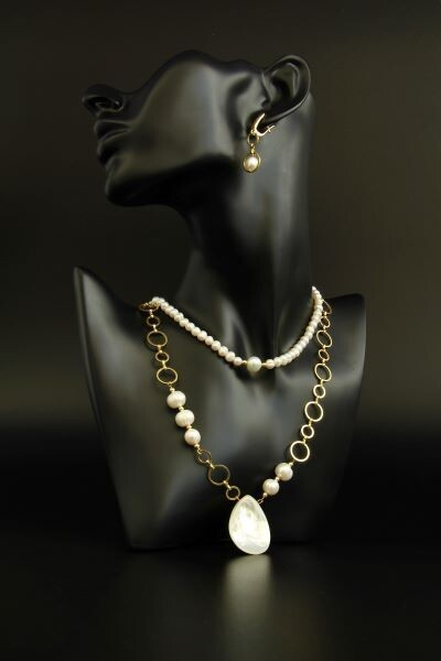 """Set of pearl jewelry """"Jacqueline"""""""