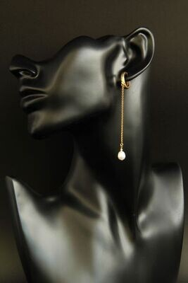 """Earrings with natural baroque pearls """"Yvon"""""""
