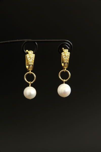 """Earrings with natural baroque pearls """"Irene"""""""
