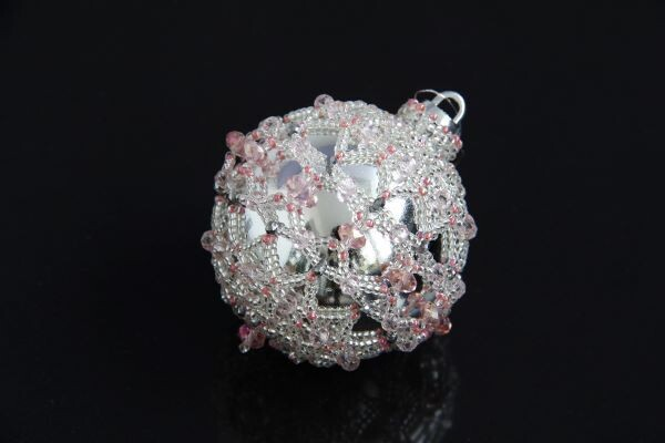 """Christmas tree toy """"Ball silver-pink"""""""