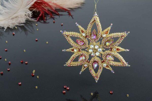 "Christmas tree toy ""Snowflake-Lux"""