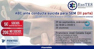 ABC ante conducta suicida para SEM - NO SOCIOS