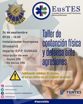 Taller de contención física y defensa ante agresiones (BIZKAIA)- SOCIOS