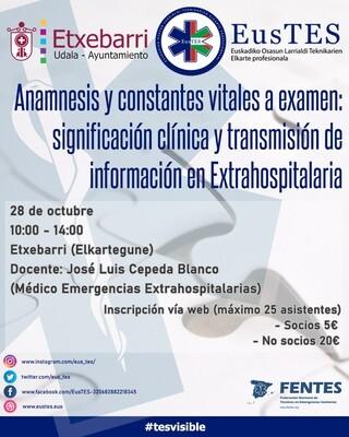 Anamnesis y constantes vitales a examen: significación clínica y transmisión de información en Extrahospitalaria - NO SOCIOS