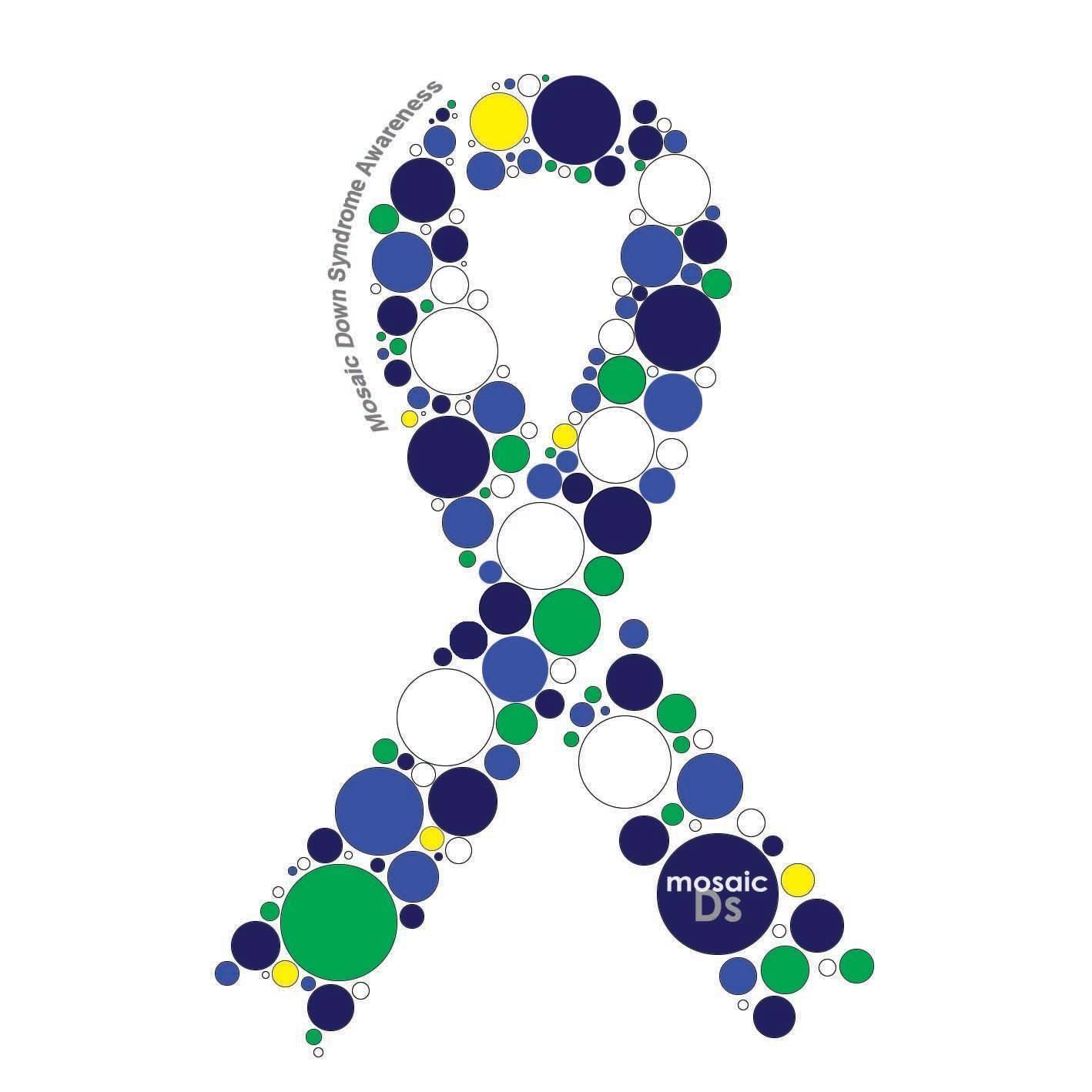 Mosaic Down Syndrome Awareness Ribbon Decal