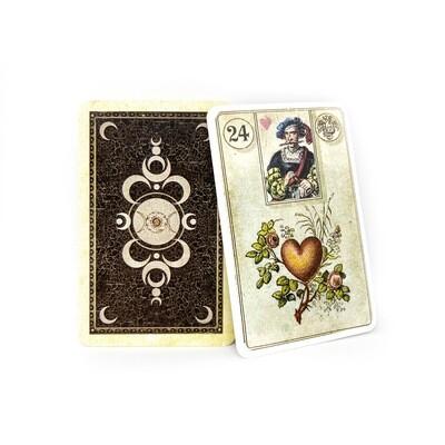 Lenormandkarten Reprint Dondorf 1880 Mit Skatkarten / Erstauflage