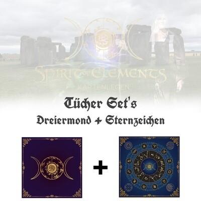 Tücher-Set Dreiermond + Sternzeichen
