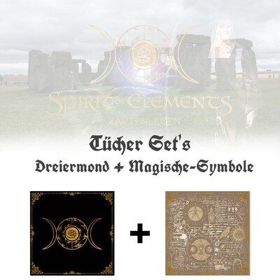 Tücher-Set Dreiermond + Magische Symbole
