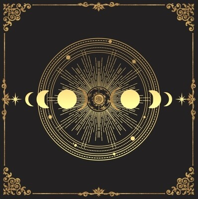 Lenormand / Tarot Tuch Mondzyklus