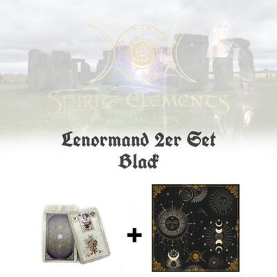 Lenormand 2er Set Black Edition