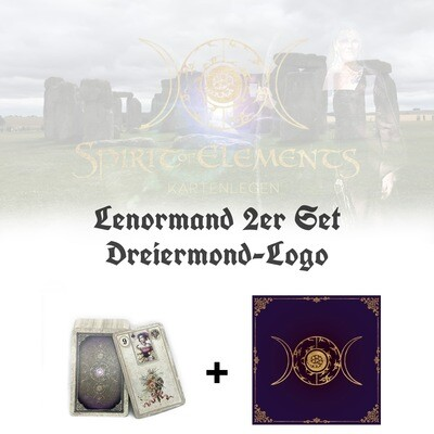 Lenormand 2er Set Dreiermond-Logo
