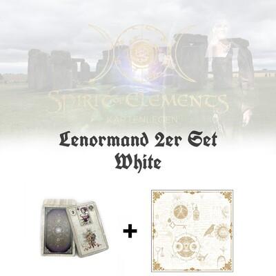 Lenormand 2er Set White Edition