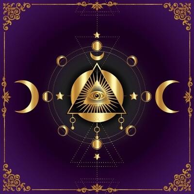 Lenormand / Tarot Tuch Pyramide
