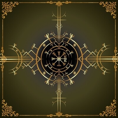 Lenormand / Tarot Tuch Celtic Mystik
