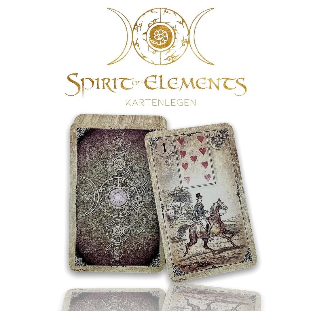 Dondorf Lenormandkarten / Old Vintage Spirit Vergilbt 1880