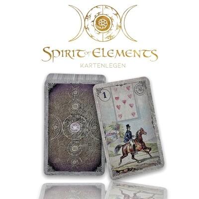 Dondorf Lenormandkarten / New Vintage Spirit Weiss-Grau 1910