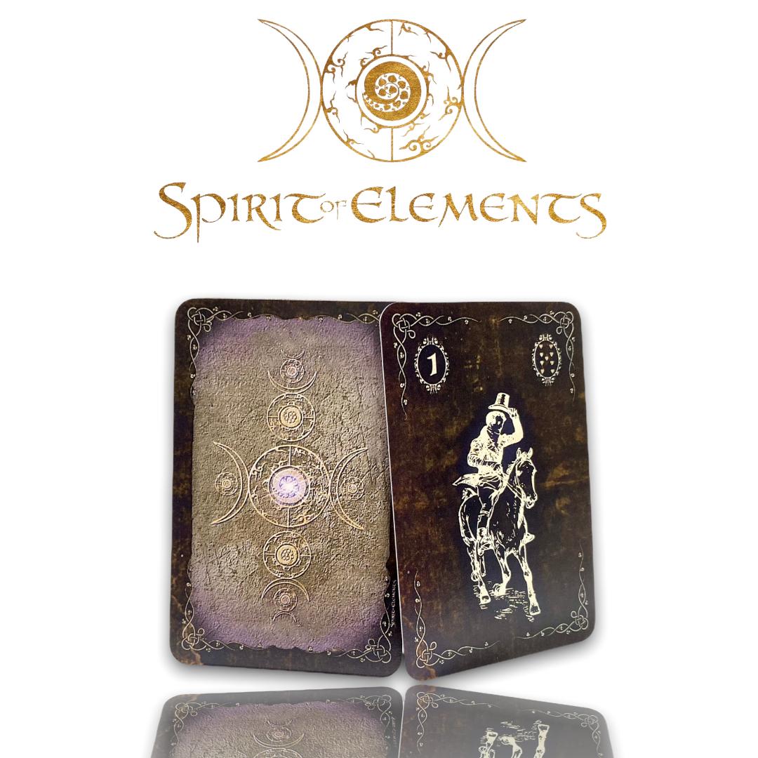 Spirit of Elements Lenormandkarten / Spirit Golden Epic mit Skatkarten