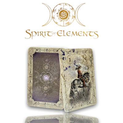 Spirit of Elements Lenormandkarten / Old Color Vintage mit Skatkarten