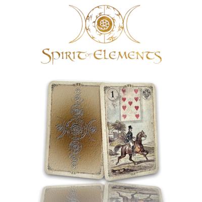 Dondorf Lenormandkarten / Goldmünze Old Vintage 1880 mit Skatkarten