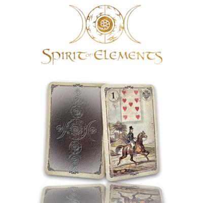 Dondorf Lenormandkarten / Silbermünze Old Vintage 1880 mit Skatkarten