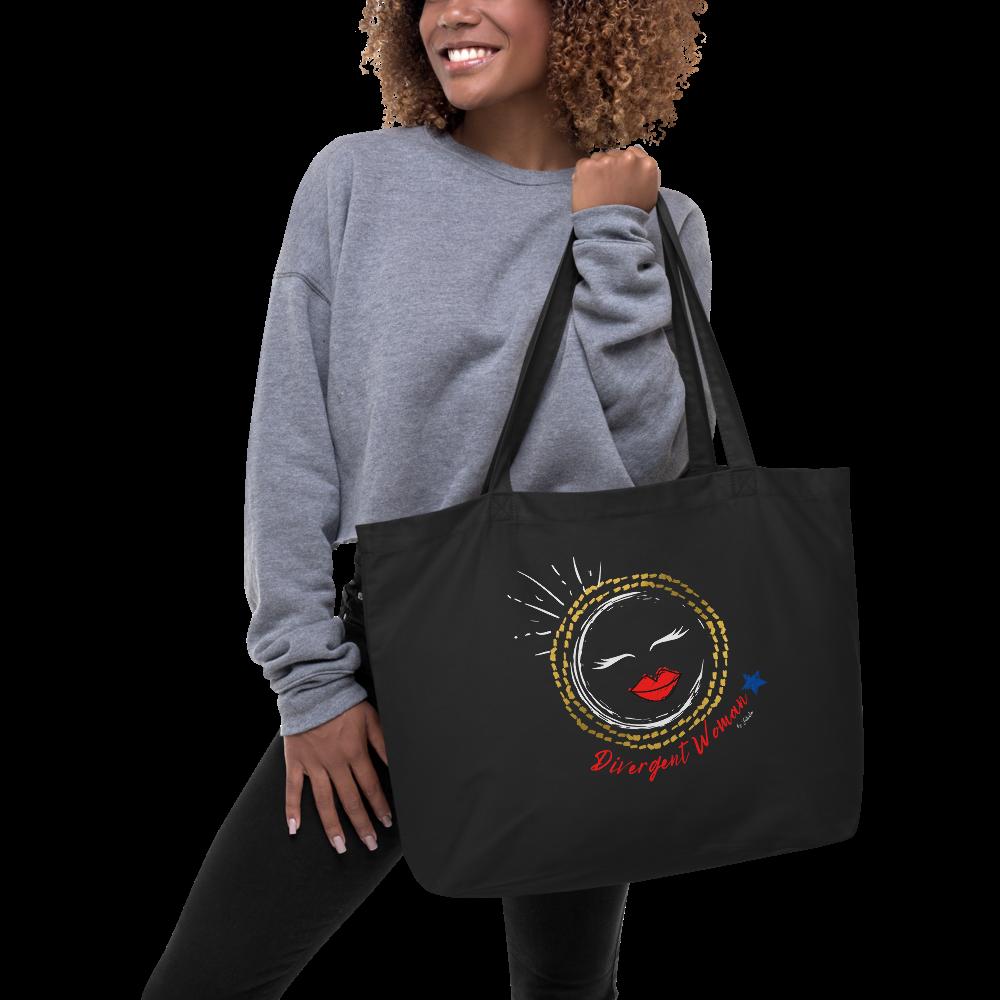 Large organic tote bag Divergent Woman
