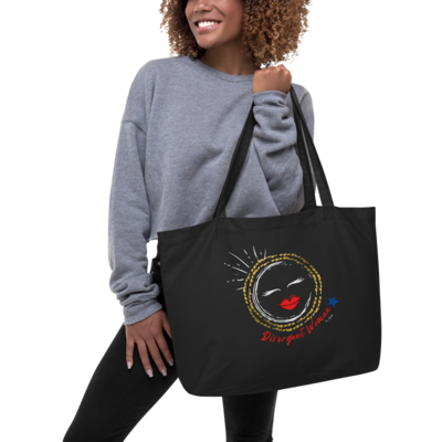 Large organic tote bag Divergent Woman