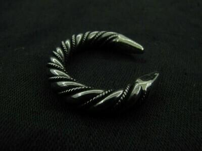 Viking Twisted Ring, Danish Shape, Alpacca Metal, Handmade