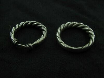Viking Pagan Couples Wedding Rings, Silver